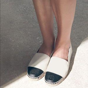 Tory Burch Espadrilles Shoe Color Block Cap Toe